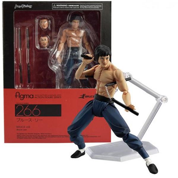 Figma Bruce Lee Doll Man Figure Model Cartoon Flexible