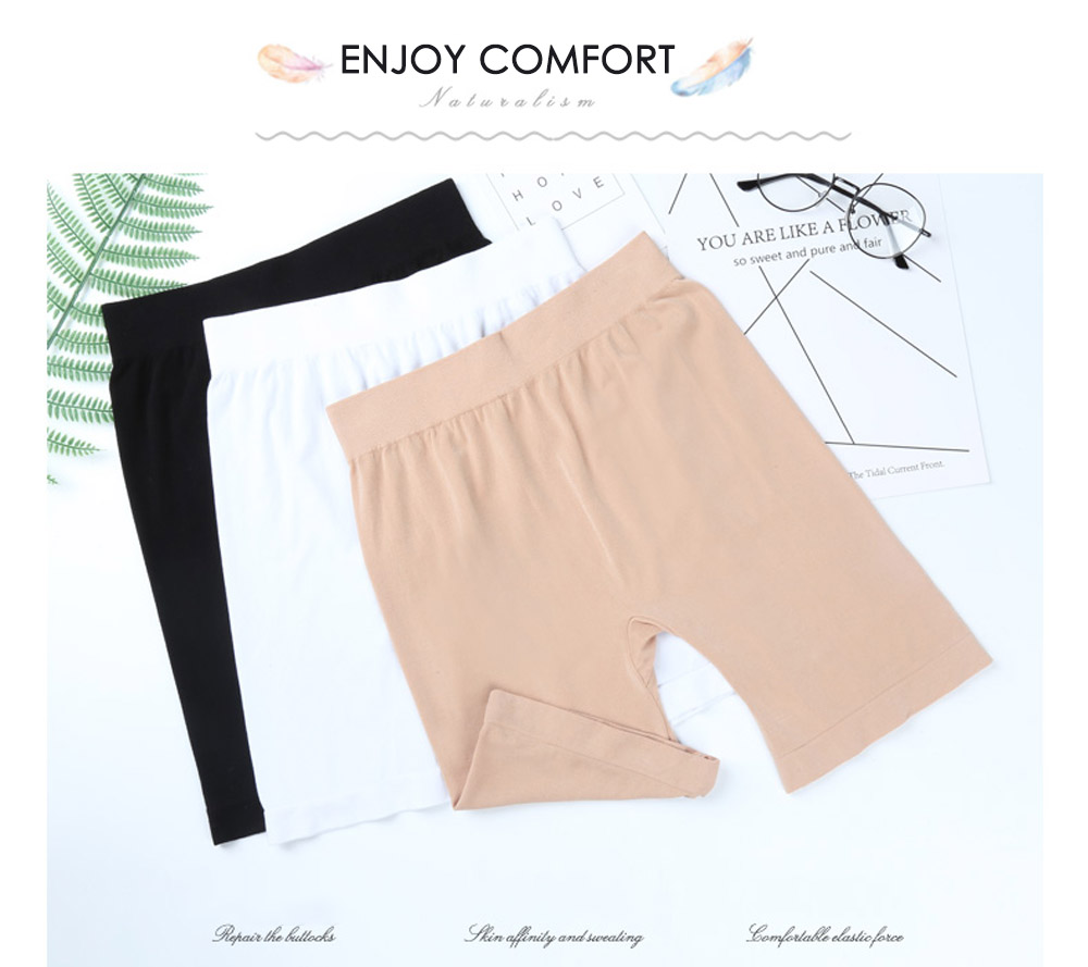 Modal Widen Size Stretchy Leggings Anti Emptied Shorts