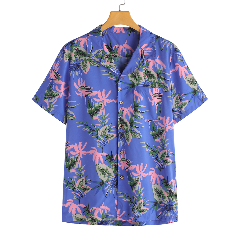 TWO-SIDED Floral Printing Hawaii Leisure Holiday Beach Shirt