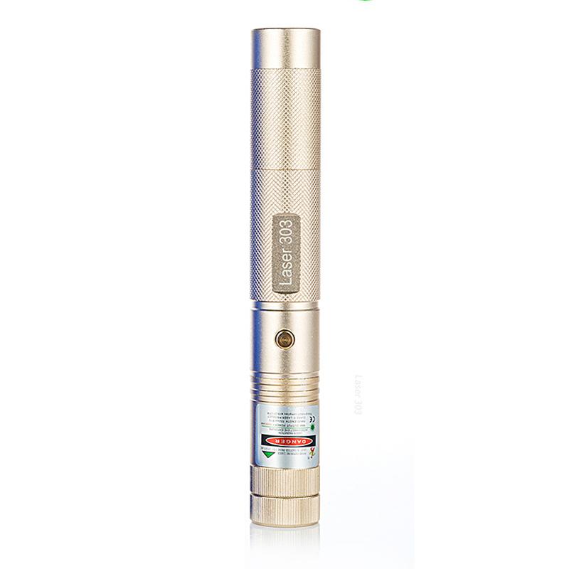 XANES 303 100mw Green Laser Pointer 18650 Battery Burning Laser Flashlight Pen