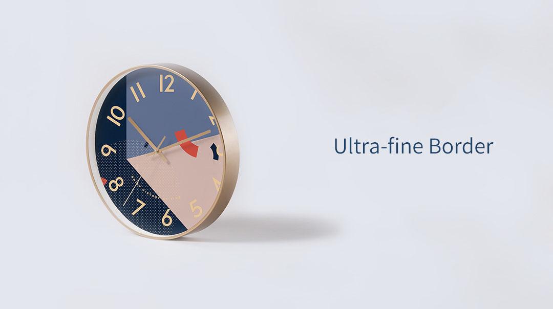 Xiaomi YUIHOME Decor Wall Clock Art Geometric Patterns Home Mute Clock