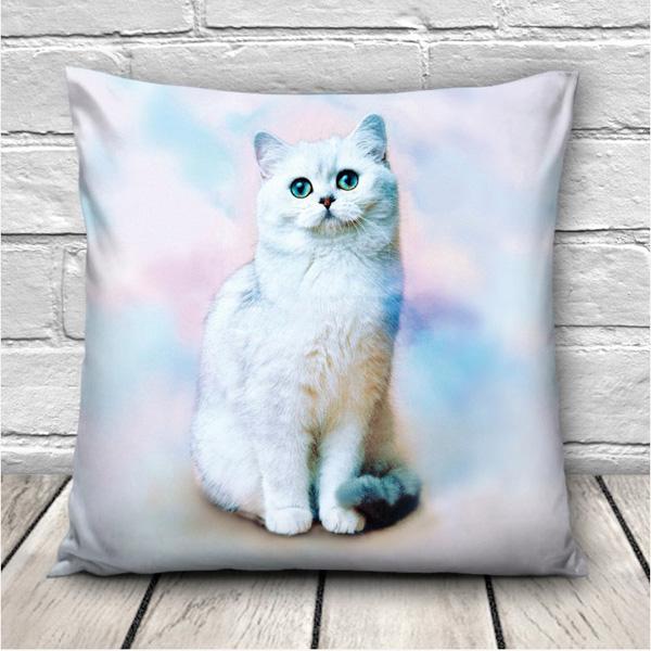 Creative 3D Galaxy Space Cats Throw Pillowcase Home Sofa Office Car Cushion Cover Gift