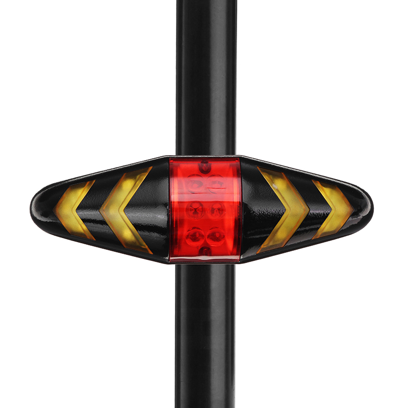 XANES STL05 LED 6 Modes Wireless Remote Control Turn Bike Taillight 500mAh USB Rechargeable Waterproof