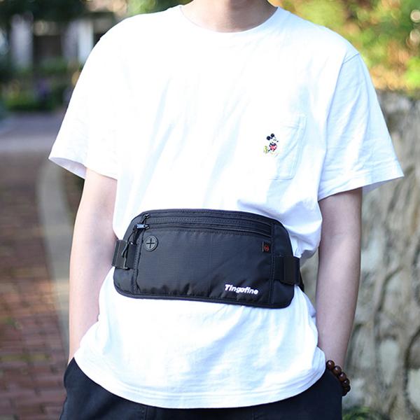 RFID Nylon Multi-function Waterproof Anti-theft Card Unisex Waist Bag