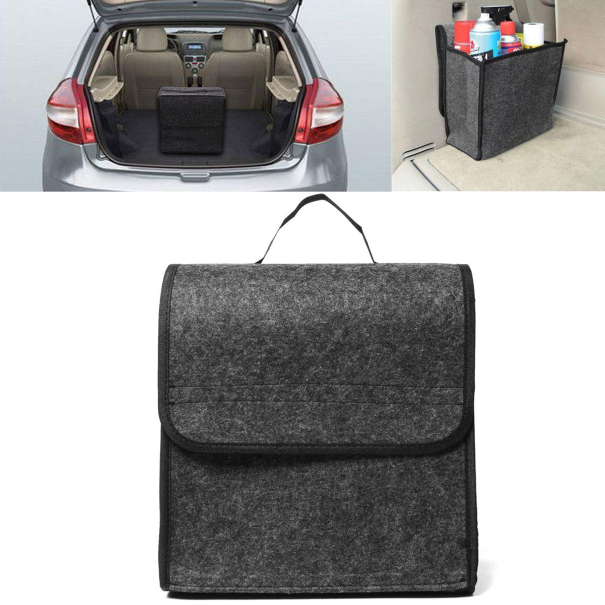 11.8x11.4 x6.3inch Felt Cloth Foldable Car Back Rear Seat Organizer Travel Storage Interior Bag Hold