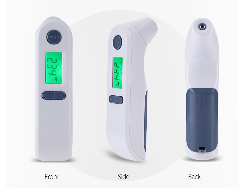 Loskii TF-800 Portable Digital Infrared Non-contact Thermometer Forehead Ear Infant Baby Thermometer Electronic Body Object Thermometer for Baby Kids Adults Elders
