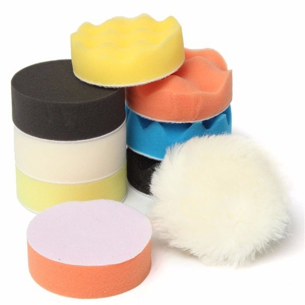 10pcs 80mm Buffing Pad 3 Inch Polishing Pad Kit For Car Polisher