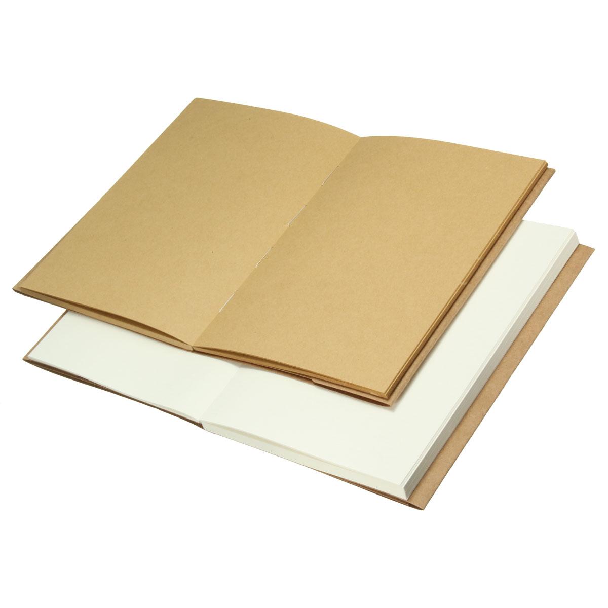 32K Vintage Blank Kraft Paper Sketchbook Journal Sketching Scrapbook Notebook