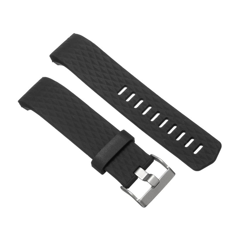Replacement Silicone Diamond Pattern Watchband Watch Strap