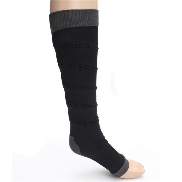 Soothe Varicose Veins Compression Sock Stocking High Knee Sleep Leg Black Belt