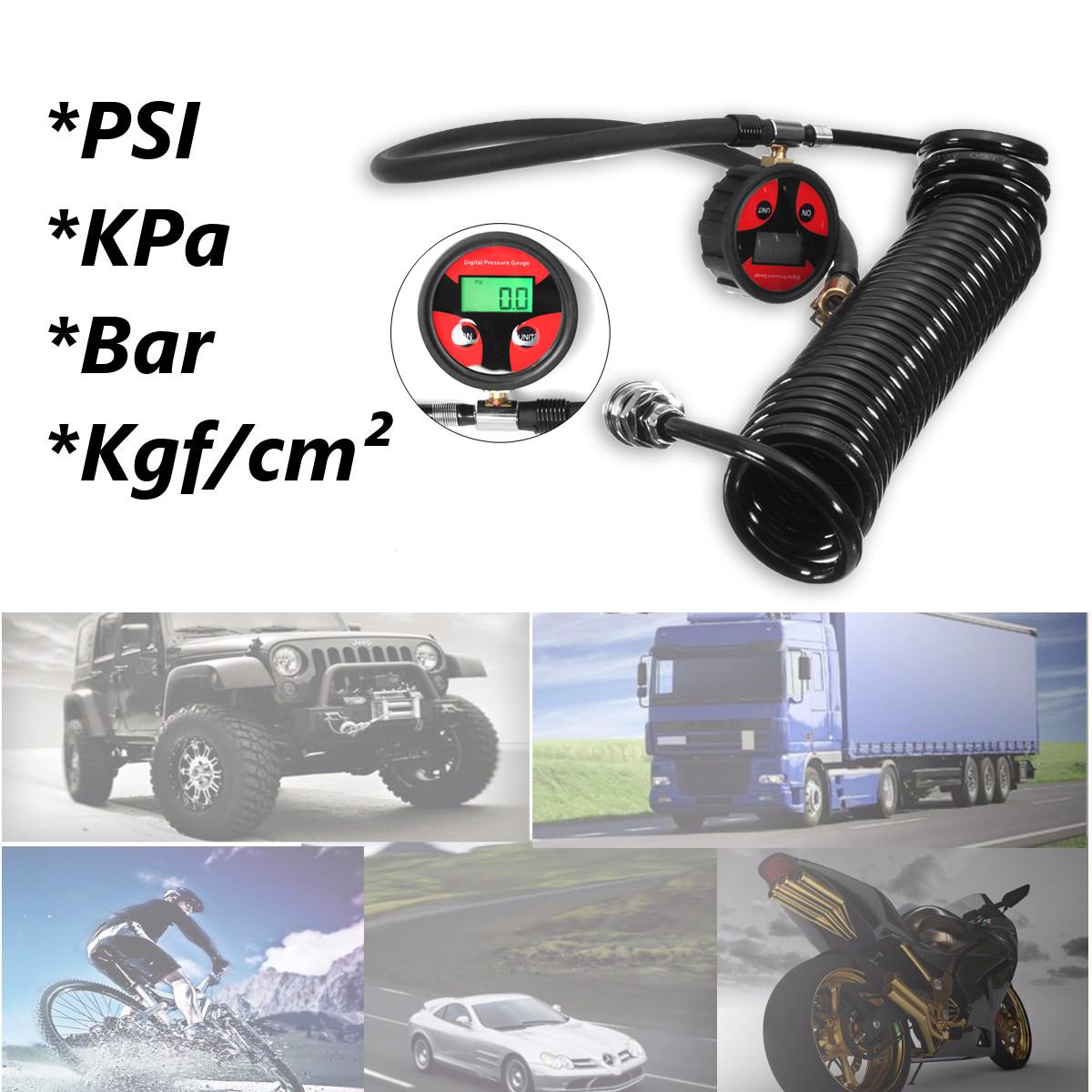 LCD Display Motorcycle Car Truck Tire Tyre Digital Air Pressure Gauge Meter