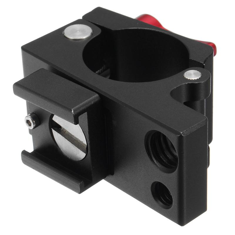 Universal 25mm Tube Clamp Clip Holder Mount Bracket With 1/4 Screw Hot Shoe For DJI Ronin-M Feiyu