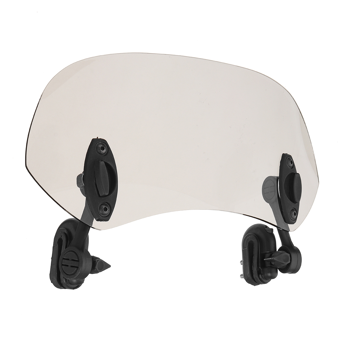 Universal Adjustable Clip On Brown Windshield Extension Spoiler Wind Small Windscreen Deflector For Motorcycle Scooter