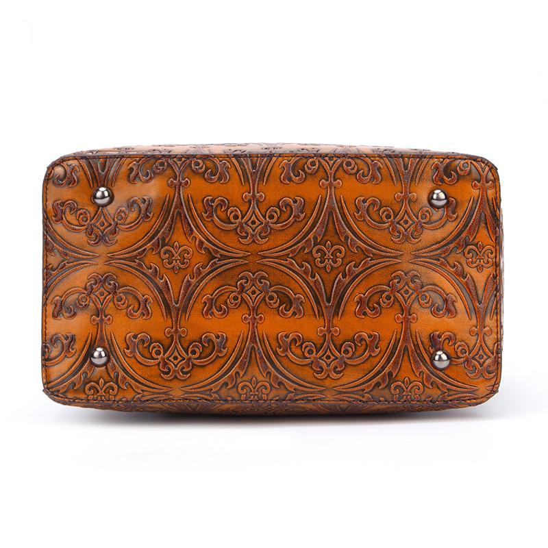 Women Cowhide Genuine Leather Vintage Handbag