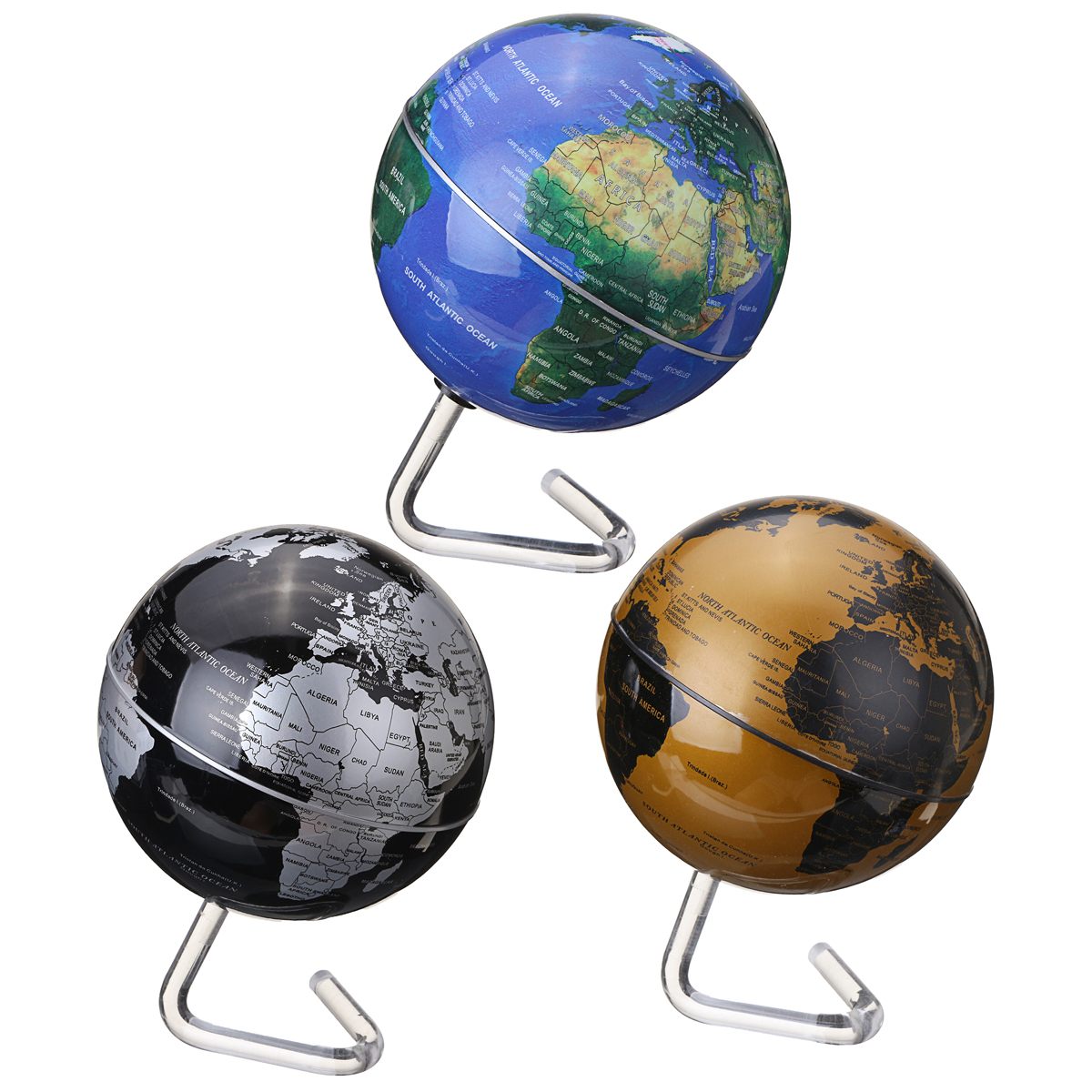 4 Inch Diameter Electric Rotating Globe Automatic 360 Dregee Rotation Desktop World Map