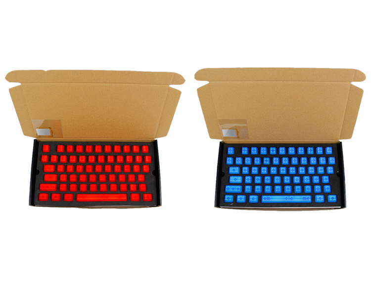 104 Key OEM Profile Transparent Light Transmitting ABS Keycaps for Cherry MX Switches Keyboard