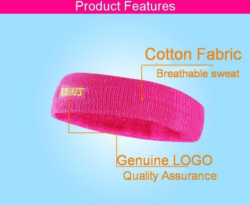 Outdooors Sport Headbrand Breathable Sweat Towel Women Yoga Stretchy Sweatbands
