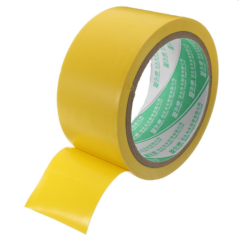 4.8cmx1.8m Hazard Warning Stripe Tape Abrasion Resistant PVC Marking Tape 2 Colors