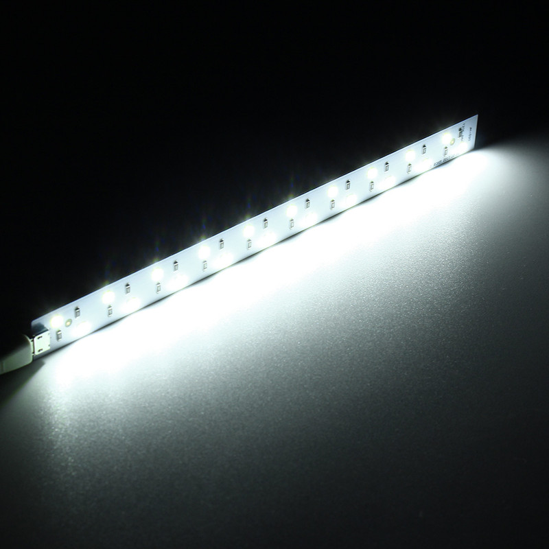 20CM Mini USB White Portable LED Night Strip Light Bar Studio Cabinet Closet Lamp DC5V
