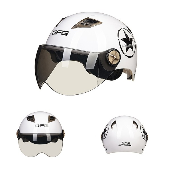 Motorcycle Scooter Half Face Helmet UV Protection 7 Colors