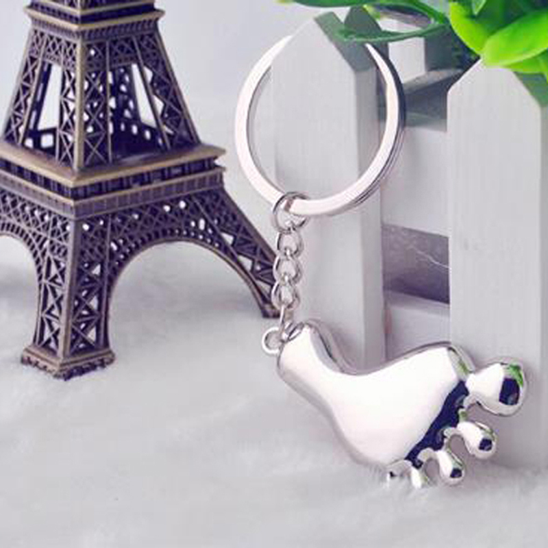 Foot Model Keychain Classic 3D Simulation Foot Personalized Gifts Chain Ring Keyring