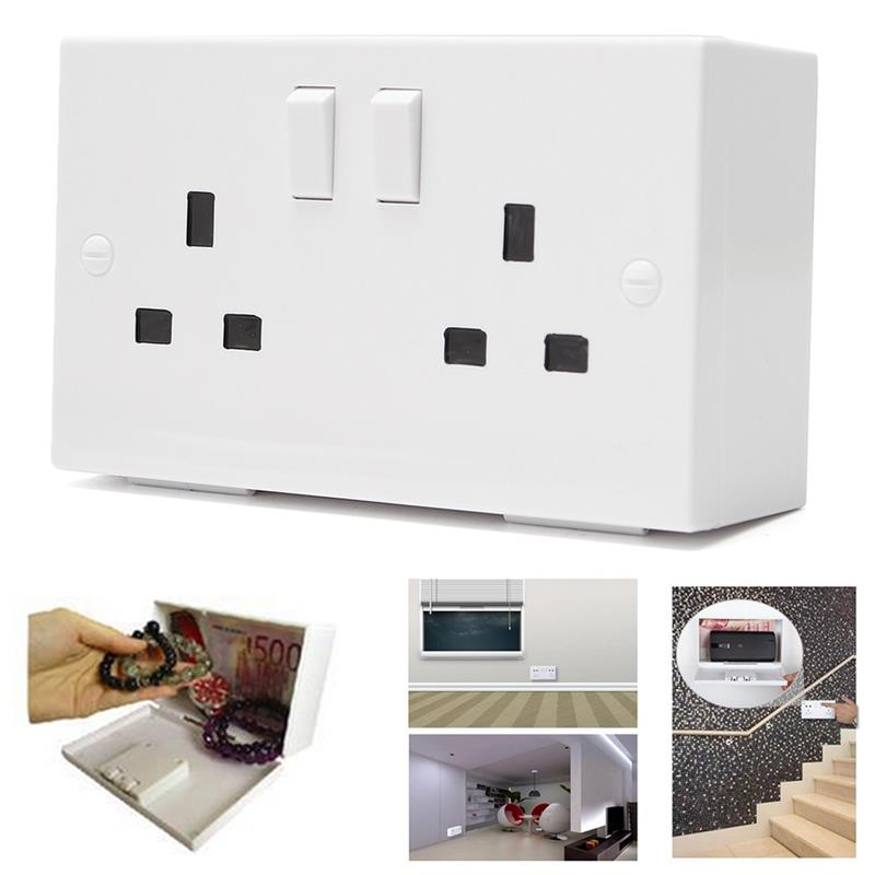 Wall Plug Socket Secret Money Storage Security Safe Locker Money Safety Box Jewelry Safety Collection Case