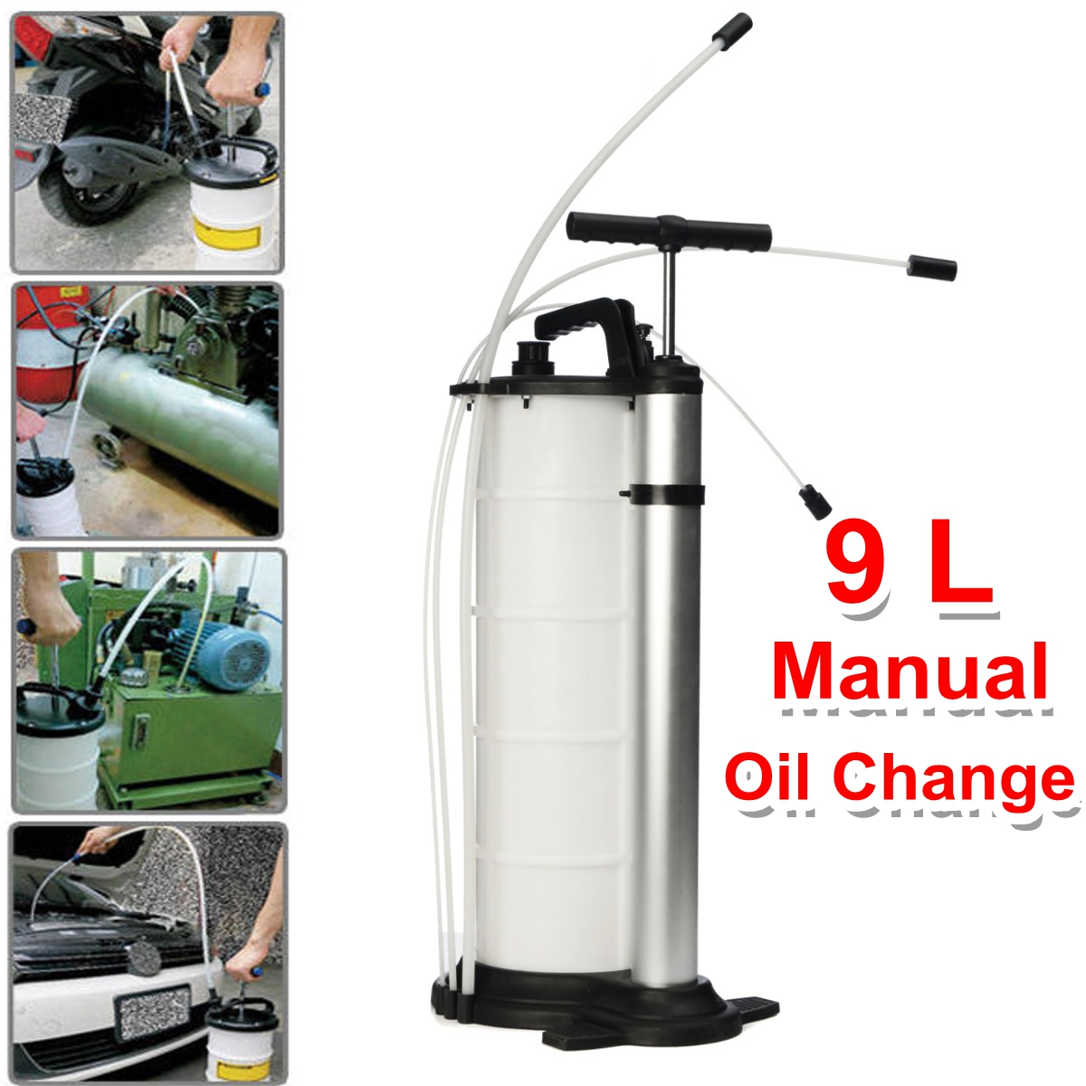 9L Vacuum Oil Fluid Suction Extractor Changer Manual Fuel Pump Tank Remover