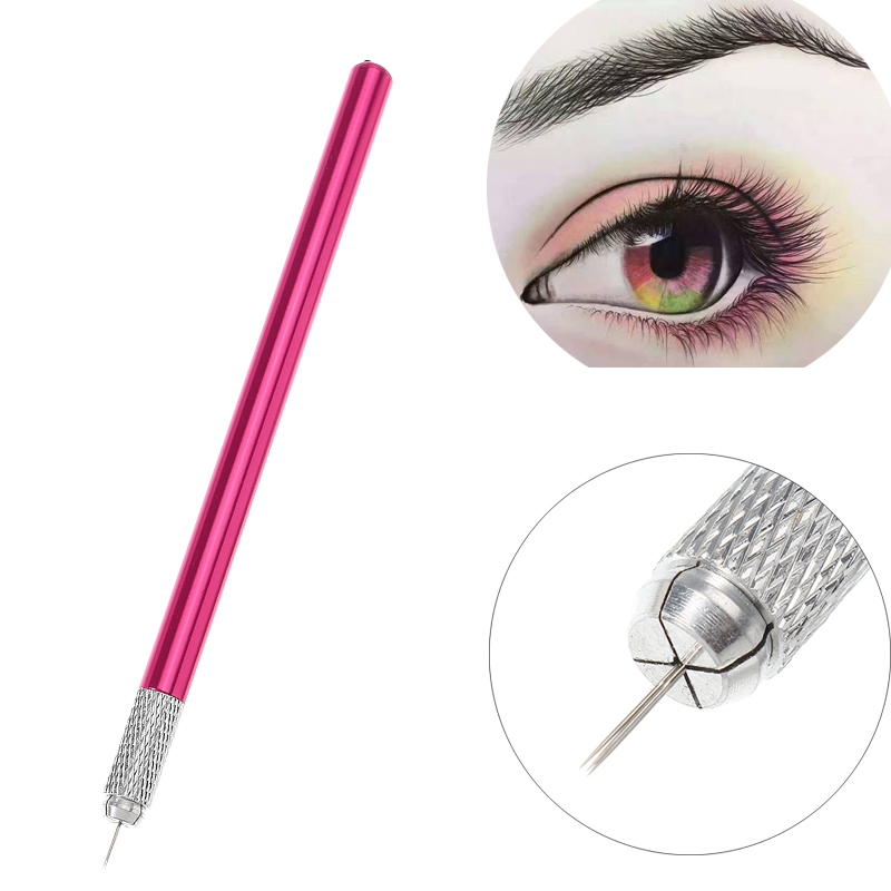 Alloy Durable Mnaual Eyebrow Tattoo Pen Embossed Handle Scar Camouflaging
