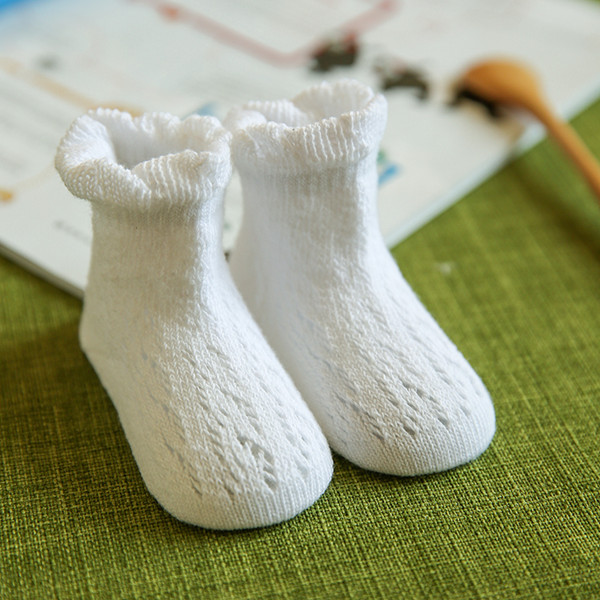 Baby Cotton Cute Socks Boys Girls Skidproof Summer Hollow Out Breathable Kids Ankle socks