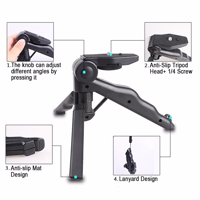 Portable Mini Rotation Desktop Tripod Stand Stabilizer For Cell Phone Digital Camera