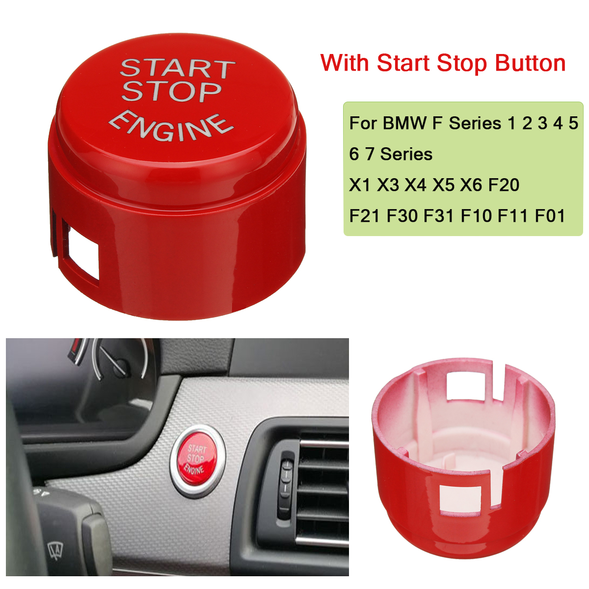 Car Engine Start Button Replace Cover for BMW F Series 1 2 3 4 5 6 7 Series X1 X3 X4 X5 X6