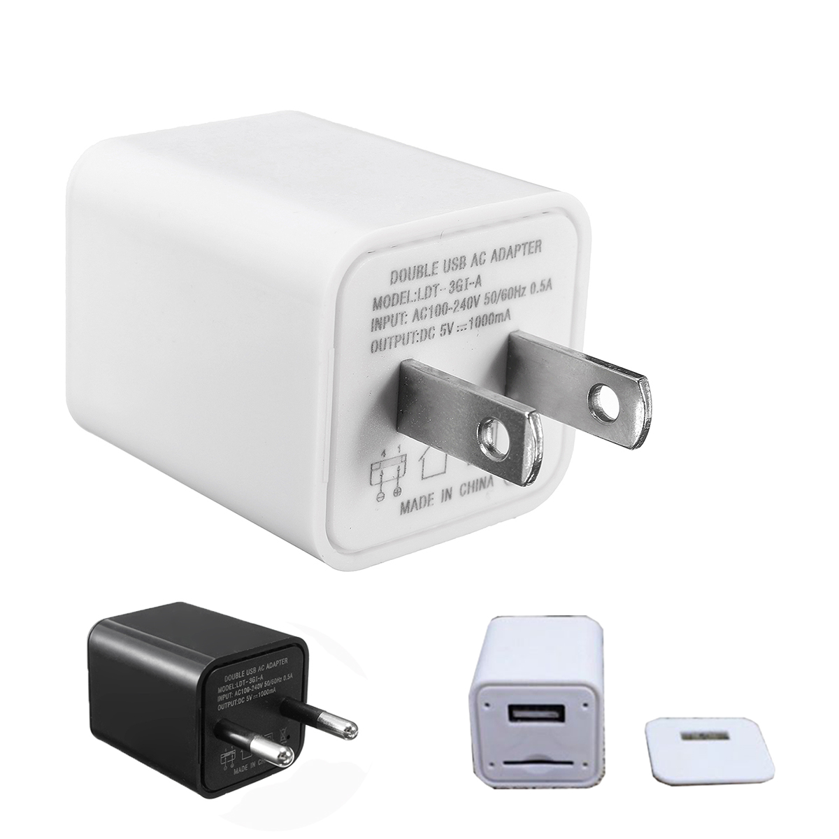 USB Wall Charger Voice Activated GSM SIM Tracker Audio Ear Bug Listening Device