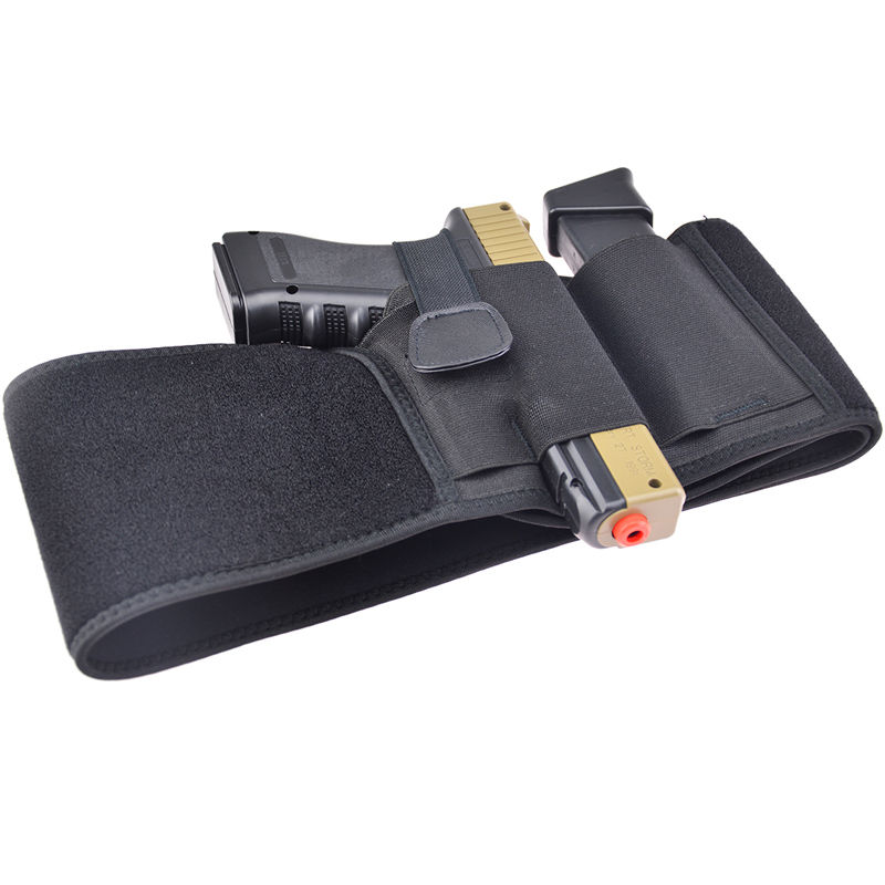 Neoprene Concealed Carry Right Hand Waist Belly Band Elastic Holster Gun Holsters Magazine Pouches For Men Women