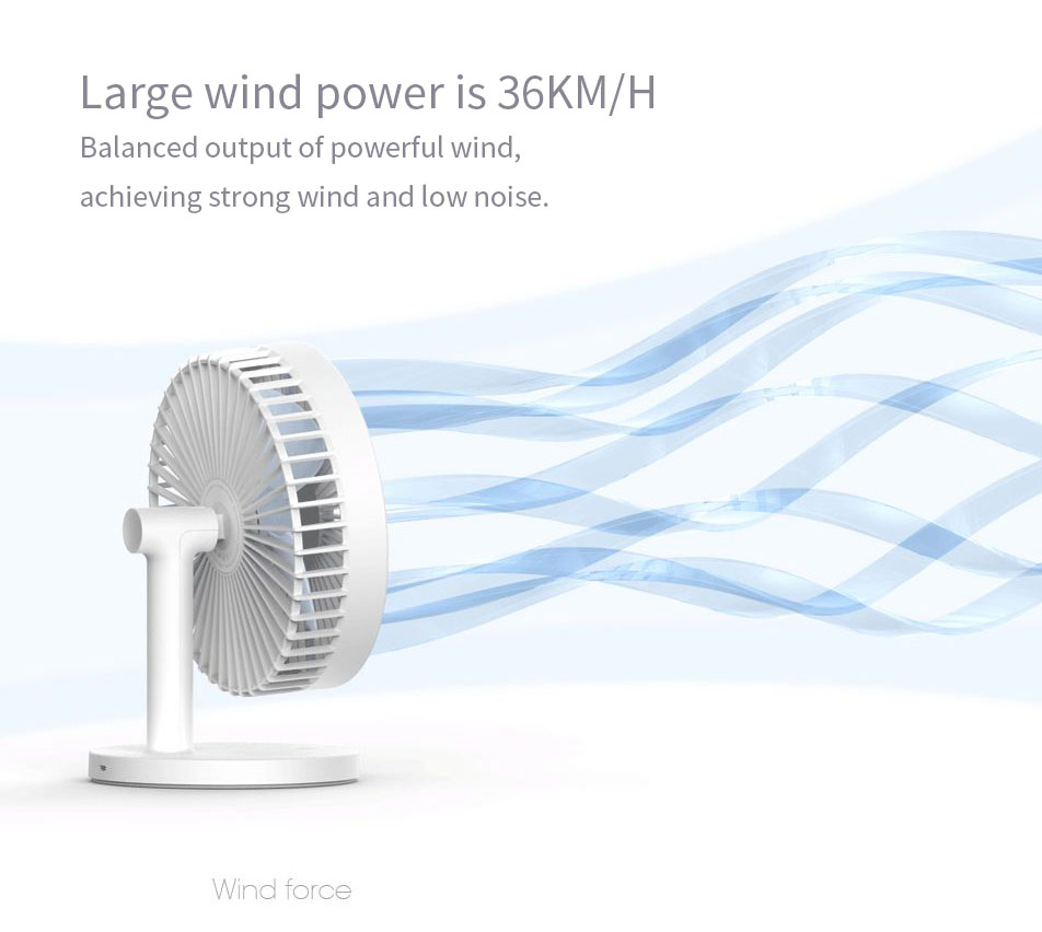 3Life 202 Desktop Mute Fan USB Charging Mini Portable Handheld Fan 2000mAh Battery Capacity Low Noise Strong Wind from XIAOMI YOUPIN