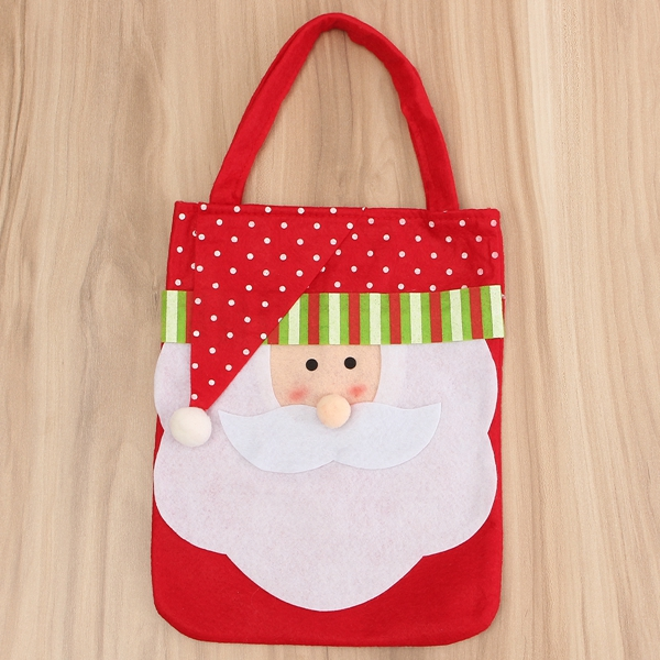 Christmas Santa Claus Snowman Decoration Xmas Gift Bag Candy Pouch Stocking Bag