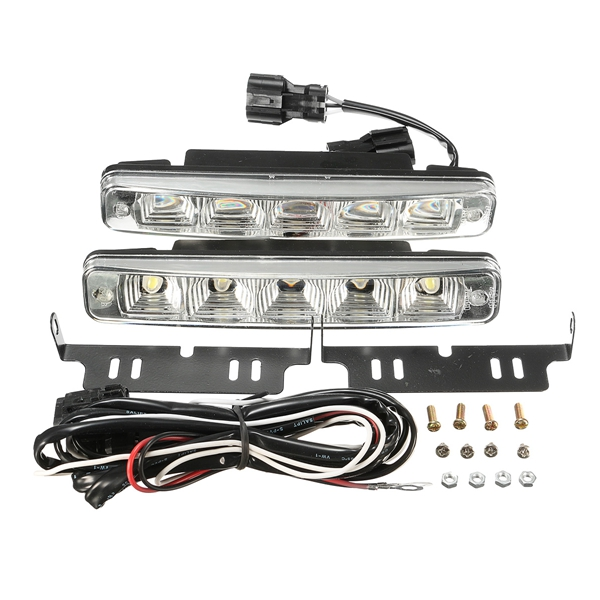 2Pcs 10W DC 12V LED Daytime Driving Running Bumper Fog Lights Lamps Car Truck Boat SUV