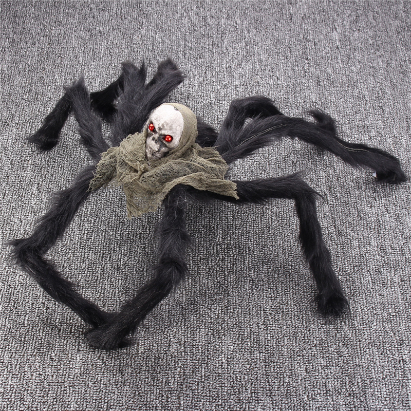 Halloween Party Decoration Skeleton Ghosthead Spider Horrid Scare Scene Toys
