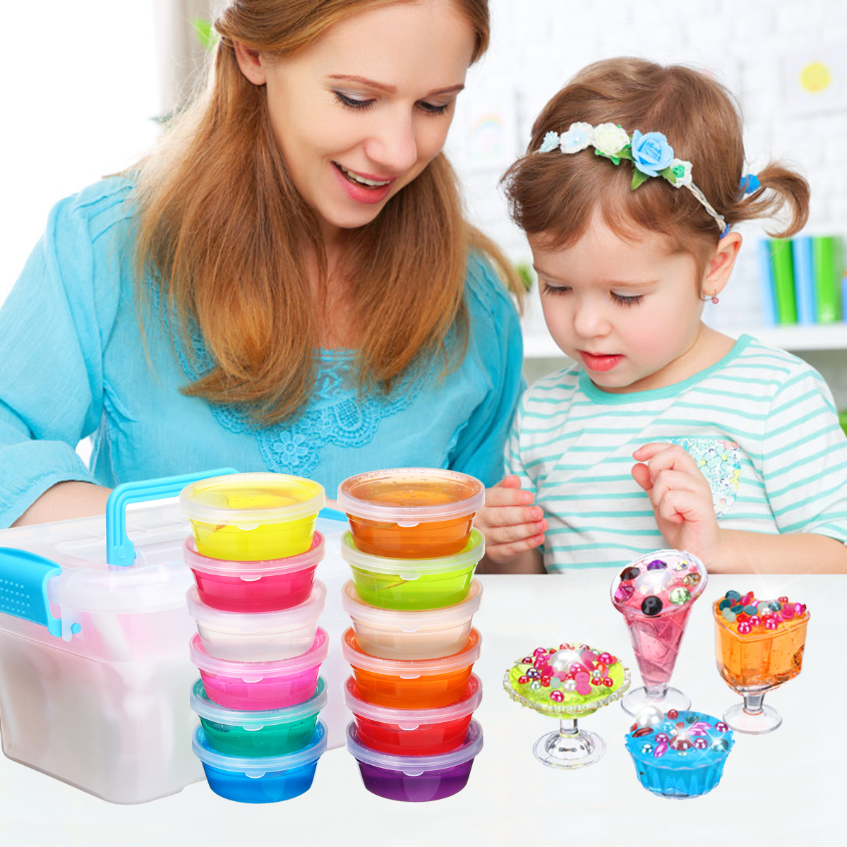 10 Colors Slime DIY Mould Soft Plasticine Drawing Clay Moulding Polymer Kid Manual Training