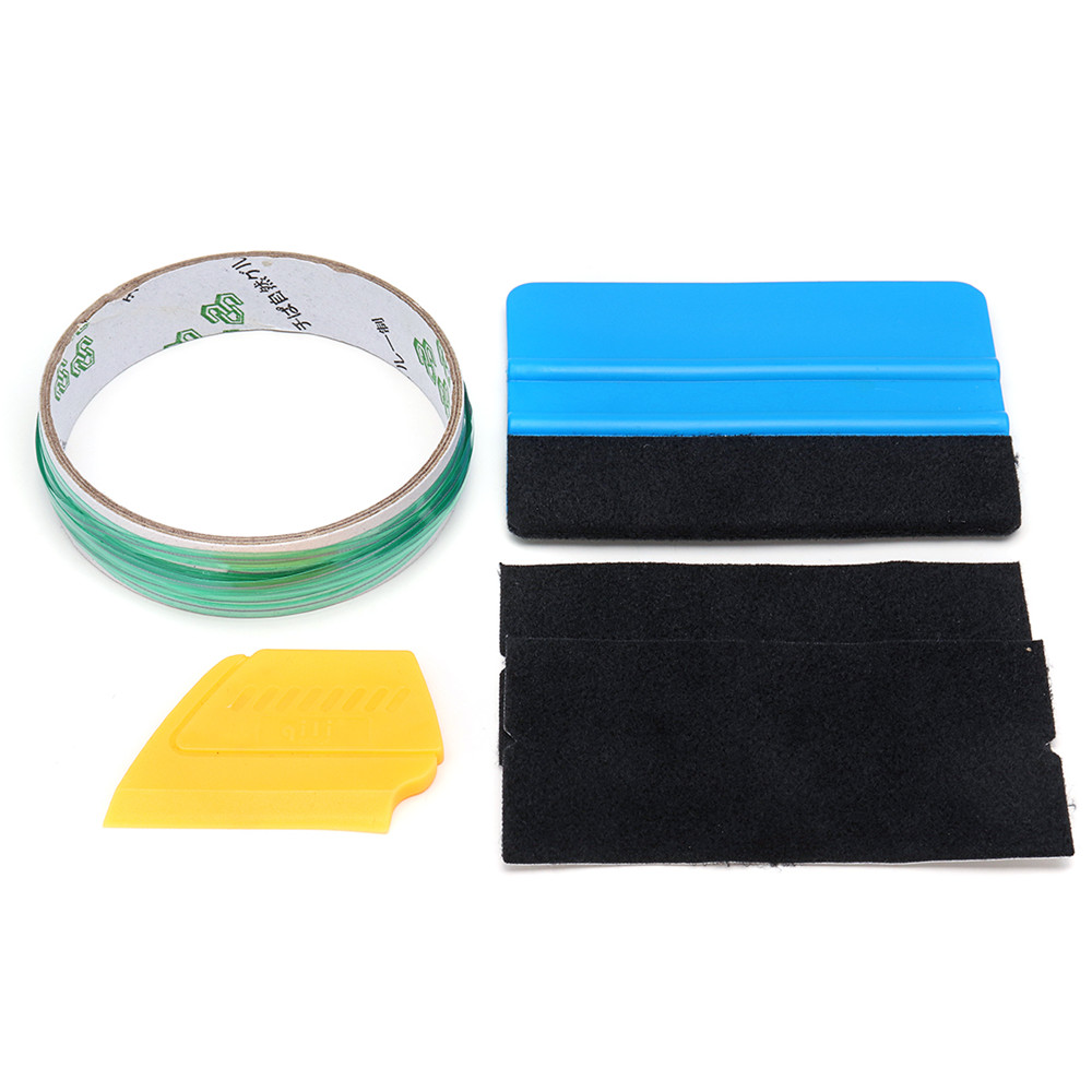 5pcs 5m Finish Cutting Line Knifeless Tape with Squeegee Graphic Vinyl Trim Wrap Tools