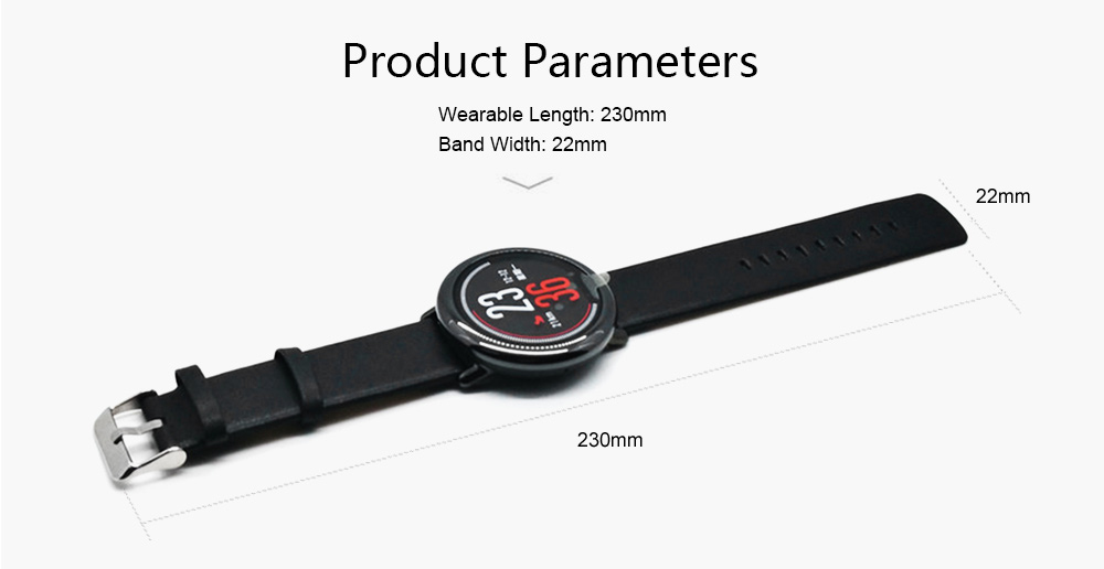 22mm Genuine Replacement Leather Wristband for HUAMI AMAZFIT Smartband