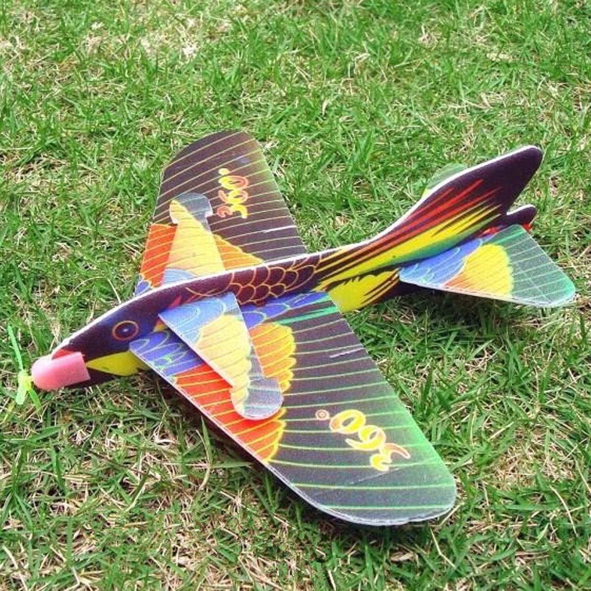 Mini DIY Foam Kids Hand Throwing Flying Aircraft Airplane Glider Toys
