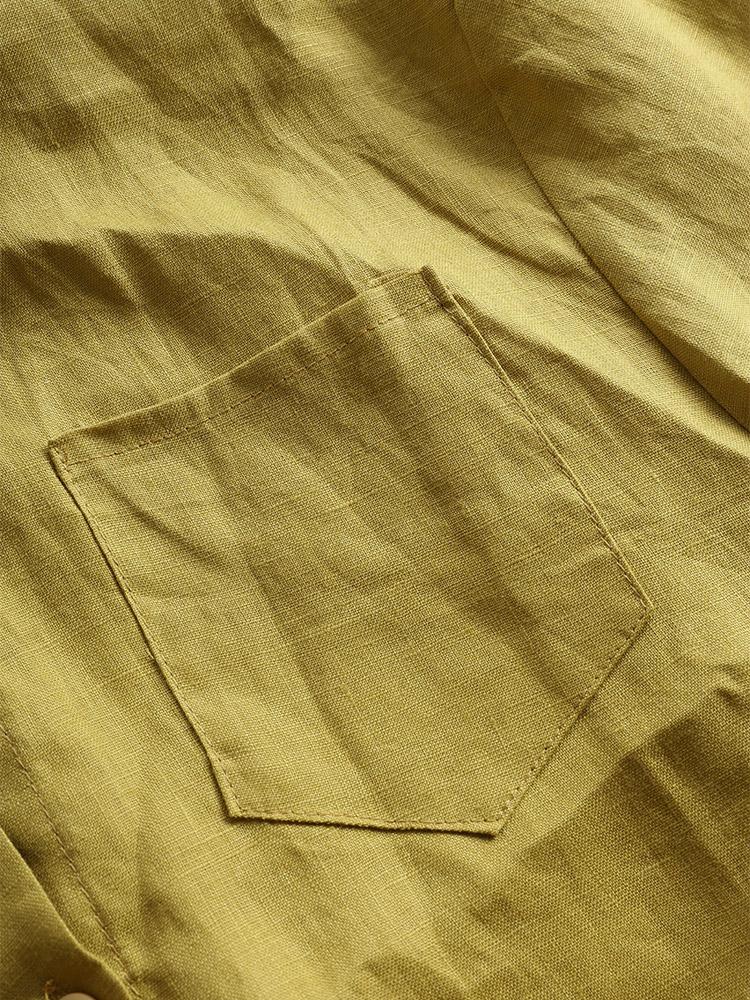 Casual Women Stand Collar Irregular Hem Button Blouse