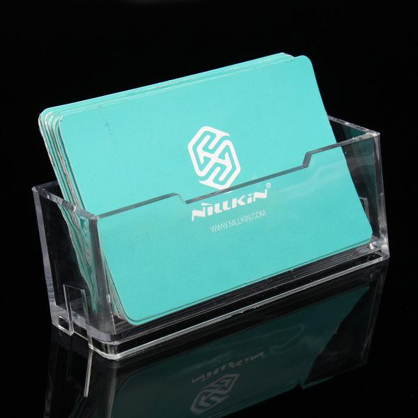 Acrylic Pocket Office Desk Shelf Display Business ID Card Holder