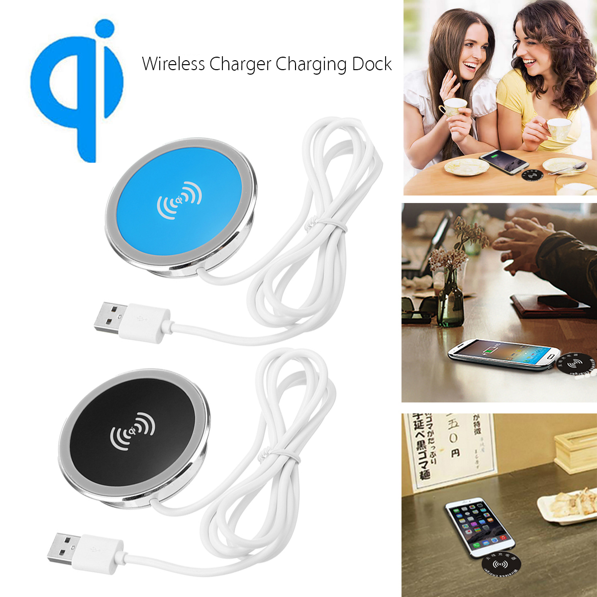 QI Wireless Desk Charger Charging Dock for iphone X/iphone 8 Plus/iphone 8