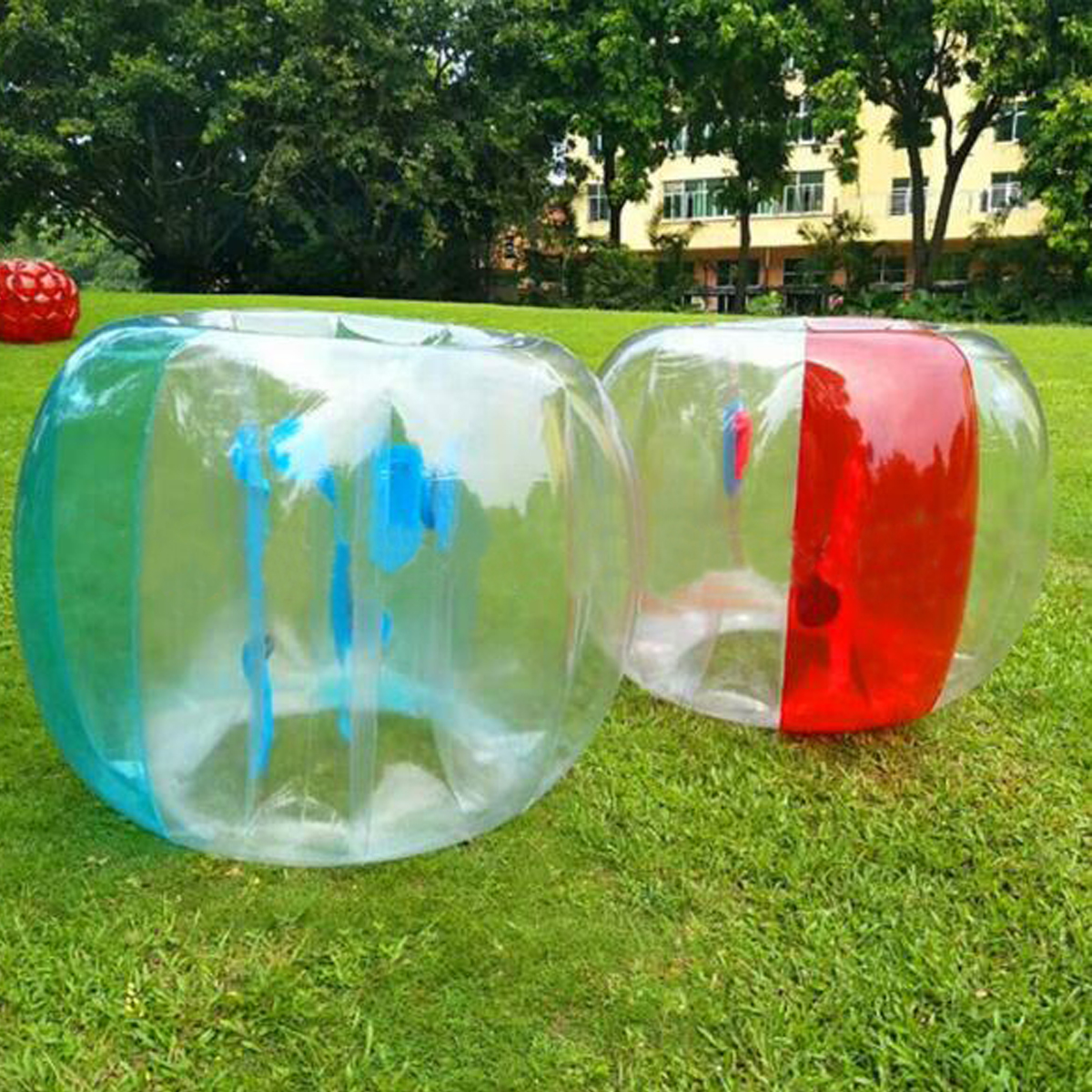 120cm Kids Inflatable Bumper Football Soccer Outdoor Travel Park Game Air Body Pool Bubble Ball