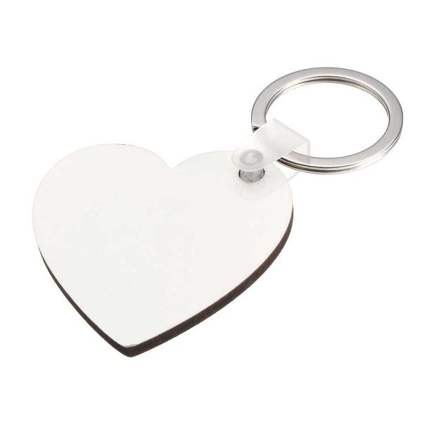 10x Heart Shape Blank MDF Board Key Ring Heat Transfer Printing Key Rings For Heat Press Machine