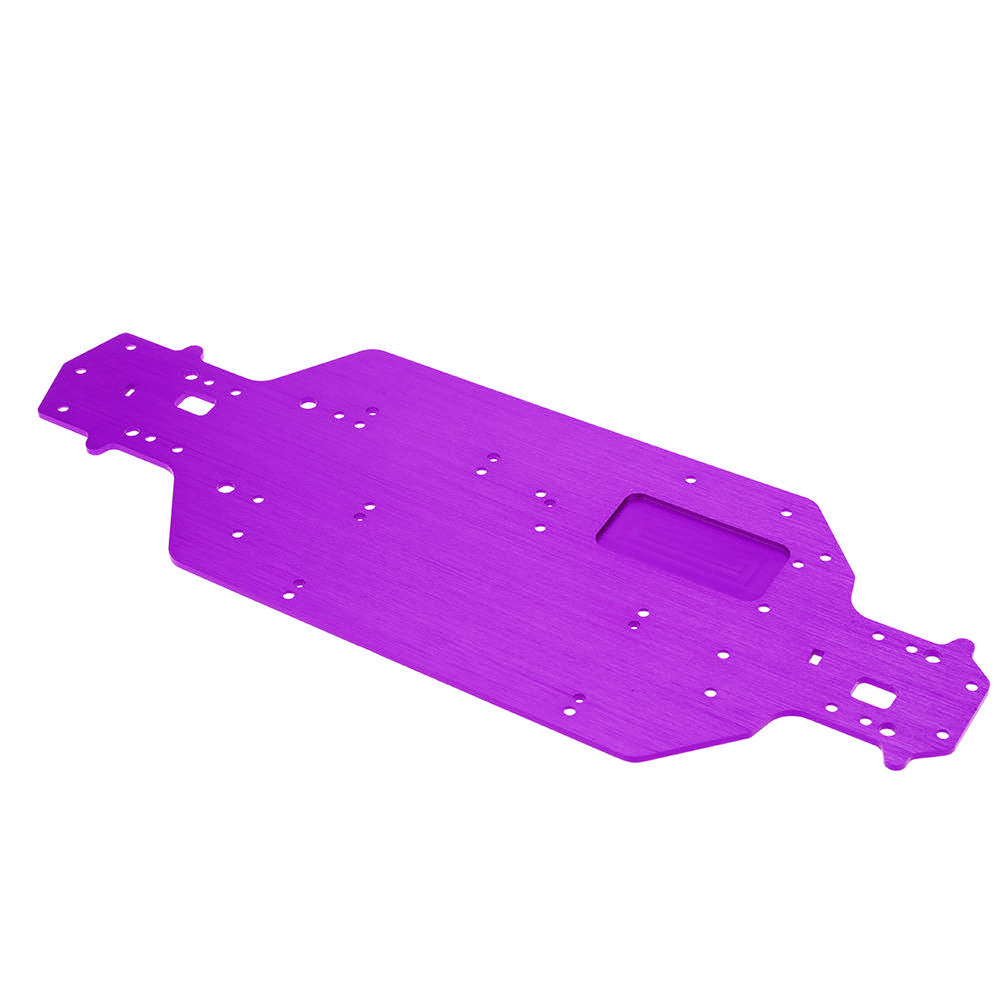 HSP RC Car Aluminum Alloy Metal Chassis 3MM Thickness 1/10 Upgrade Parts For 94103 94123