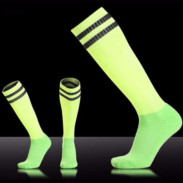 Men Adults Football Stripes Thickened Bottom Socks Long Tube Hygroscopic Anti Skid Sports Socks