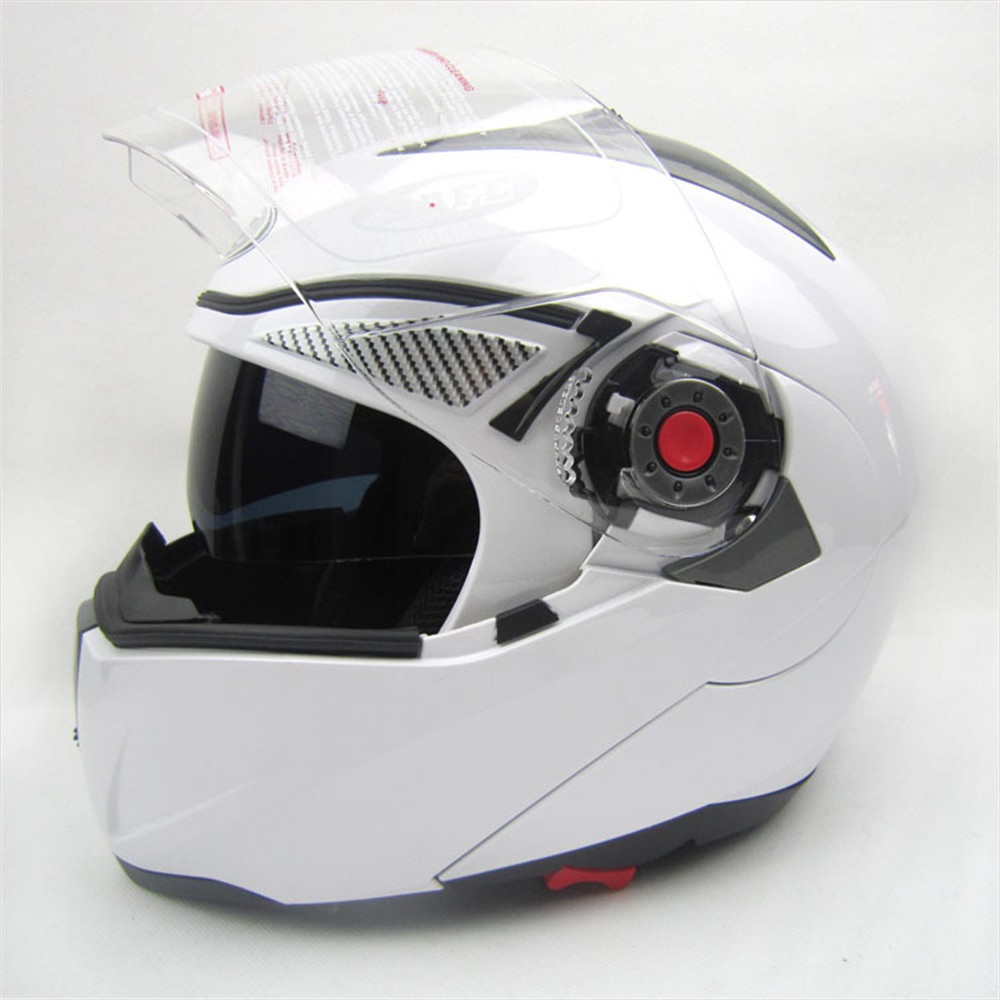 Full Face ABS Outdoor Racing Motocross Motorcycle Helmet Flip Up Double Visors
