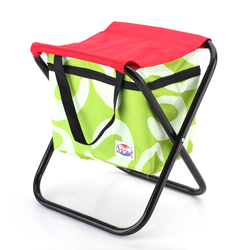 Outdoor Folding Chair Thermal Cooler Ice Bag Picnic Food Drink Fruit Lunch Storage Box Beach Stool